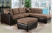 Milano Saddle Easy Rider / Espresso Bycast Right Facing Chaise Sectional by Acme - 51330-R