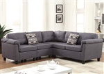 Cleavon Grey Linen Modular Sectional by Acme - 51550