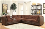 Vlord Brown Chenille / PU Reversible Sectional by Acme - 52230