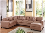 Dannis Sectional in Saddle Microfiber by Acme - 56010