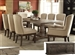 Landon 8 Piece Complete Dining Set in Salvage Brown Finish by Acme - 60737-C