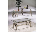 Montrose Glass Top Pewter Finish 3 Piece Occasional Table Set by Acme - 6629
