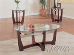 Brea Glass Top 3 Piece Coffee/End Table Set by Acme - 7806