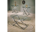 Paradise Glass Top 3pc Coffee/End Table Set by Acme - 7846