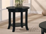 Gardena Round End Table in Dark Espresso Finish by Acme - 8001