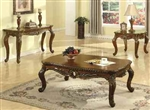 Dorothea Occasional Tables in Cherry Finish by Acme - 80590