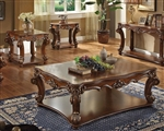 Vendome 3 Piece Occasional Table Set in Cherry Finish by Acme - 82000-S