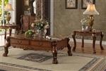 Dresden Coffee Table in Cherry Oak Finish by Acme - 82095