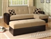 Lakeland Sand/Espresso Reversible Adjustable Storage Sofa by Acme - 05775