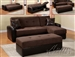Lakeland Chocolate/Espresso Reversible Adjustable Storage Sofa by Acme - 15775