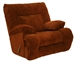 "Bailey Chaise Rocker Recliner in ""Crimson"" Color Fabric by Catnapper - 1170-2"