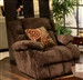 "Concord ""Lay Flat"" Recliner in ""Mahogany"" Color Fabric by Catnapper - 1420-7-M"