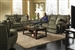 "Gavin 2 Piece Reclining Sofa Set in ""Foliage"" Color Fabric by Catnapper - 1451-S"