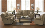 "Gavin 2 Piece Reclining Sofa Set in ""Desert"" Color Fabric by Catnapper - 1451-S-D"