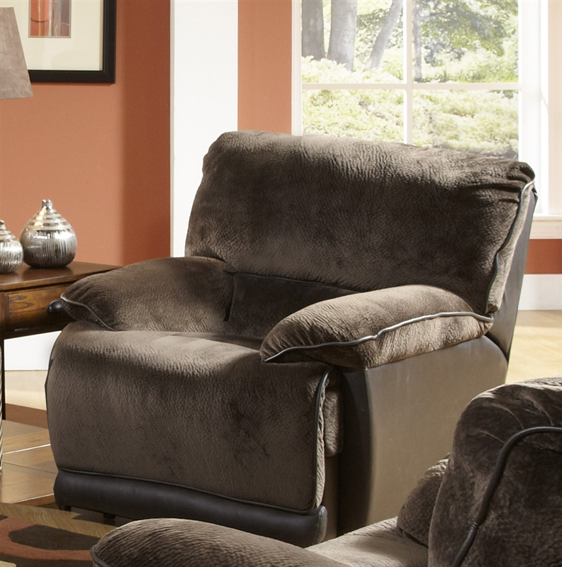 Escalade reclining console loveseat in chocolate walnut for Catnapper cloud nine chaise recliner