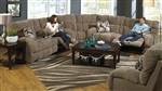 "Siesta 3 Piece Lay Flat Reclining Sectional in ""Porcini"" Color Fabric by Catnapper - 1761-P-SEC"