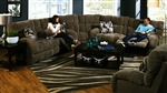 "Siesta 3 Piece Lay Flat Reclining Sectional in ""Chocolate"" Color Fabric by Catnapper - 1761-SEC"