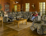 Lodge 3 Piece Manual Recline Sectional in Camouflage Cover by Catnapper - 3781-SEC