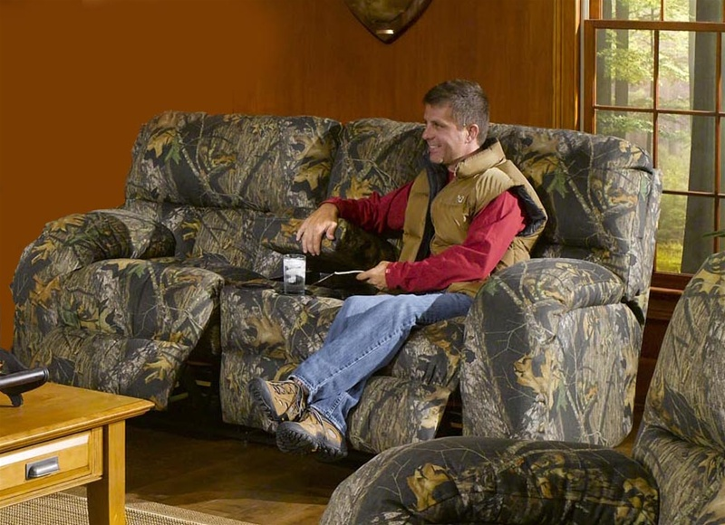 Lodge Console Reclining Love Seat In Camouflage Cover By Catnapper 3789