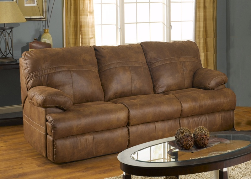 Ranger manual reclining sofa in tanner fabric cover by for Catnapper cloud nine chaise recliner