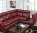 Chastain 2 Piece Red Leather Storage Reclining Sectional by Catnapper - 4016-R