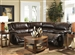 Park Avenue 3 Piece POWER Reclining Sectional in Java Leather by Catnapper - 416-003P