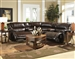Park Avenue 5 Piece POWER Reclining Sectional in Java Leather by Catnapper - 416-5P