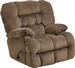 Colson Chaise Rocker Recliner with Heat and Massage in Mocha Fabric by Catnapper - 4624-2-MO