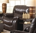 Arlington Swivel Glider Recliner in Mahogany Leather by Catnapper - 4770-5