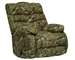 Duck Dynasty Flat Rock Chaise Rocker Recliner in Mossy Oak Infinity Camouflage Fabric by Catnapper - 5806-2-I