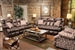 Duck Dynasty Cedar Creek 2 Piece POWER Reclining Set in Sable Leather with Duck Camo Fabric Pillows by Catnapper - 6132-S