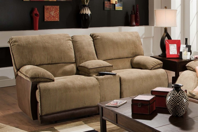 Clayton Power Reclining Loveseat With Console And Cupholders In Two Toned Cover By Catnapper 61349