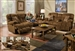 "Concord 2 Piece POWER ""Lay Flat"" Reclining Sofa Set in ""Pecan"" Color Fabric by Catnapper - 1421-S"