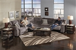 Hammond 3 Piece POWER Reclining Sectional in Mocha, Coffee, or Granite Fabric by Catnapper - 61441-SEC