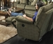 "Gavin POWER Glider Recliner in ""Foliage"" Color Fabric by Catnapper - 61450-6"