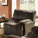 Escalade POWER Chaise Glider Recliner in Chocolate/Walnut Two Tone Fabric by Catnapper - 61710-6