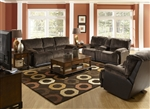 Escalade 2 Piece POWER Reclining Set in Chocolate/Walnut Two Tone Fabric by Catnapper - 61711-2