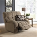 "Siesta POWER Lay Flat Recliner in ""Porcini"" Color Fabric by Catnapper - 61760-7-P"
