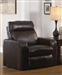 Zodiac Power 2 Straight Arm Recliner in Java Leather by Catnapper - 64020