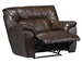 Carmine POWER Lay Flat Recliner in Timber, Pebble or Smoke Leather by Catnapper - 64150-7