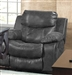 Catalina POWER Glider Recliner in Steel Leather by Catnapper - 64310-6