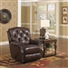 Davidson POWER Rocker Recliner in Bordeaux Leather by Catnapper - 64604-2-B