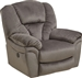 Drew POWER Lay Flat Recliner in Granite Fabric by Catnapper - 64613-7-G