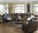 Dallas 3 Piece POWER Reclining Sectional in Tobacco Leather by Catnapper - 64951-SEC