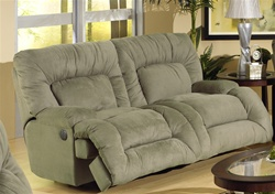 Jackpot power reclining chaise sofa in sage microfiber for Catnapper jackpot reclining chaise