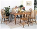Farmhouse 5 Piece Dining Set in Oak Finish by Crown Mark - 1031