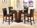 Camelia 5 Piece Counter Height Dining Set in Espresso Finish by Crown Mark - 1710-RD-ESP
