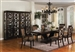 Serendipity Complete Dining Set Curio Included in Espresso Finish by Crown Mark - 2030C