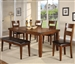 Figaro 6 Piece Dining Set in Cherry Finish by Crown Mark - 2101