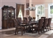 Estelle Complete Dining Set China Included in Cherry Finish by Crown Mark - 2120C